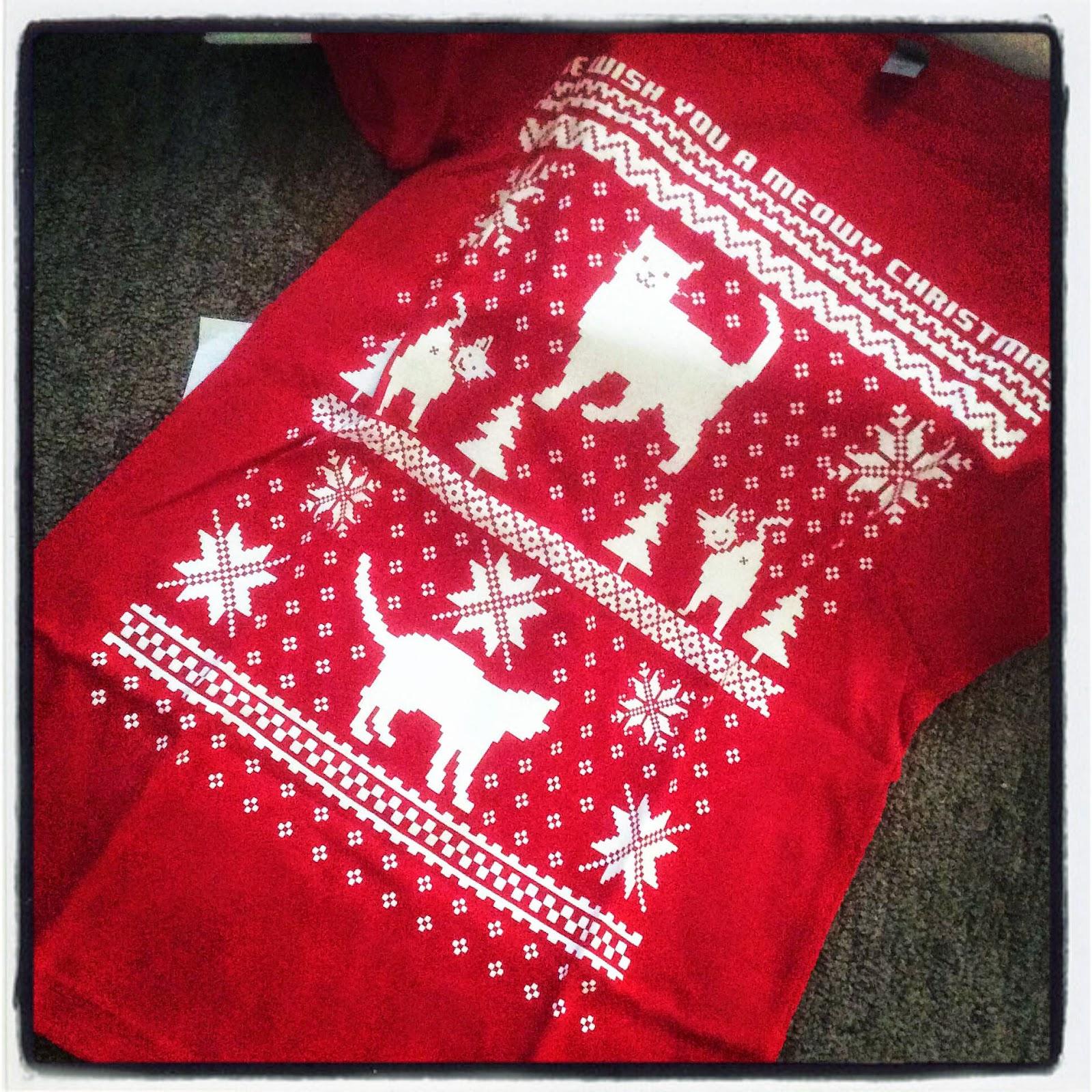 Ugly Christmas Sweater Shirt: Ugly Cat Shirt