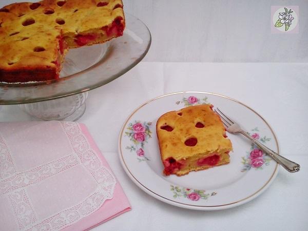 Torta Vegana de Frambuesas