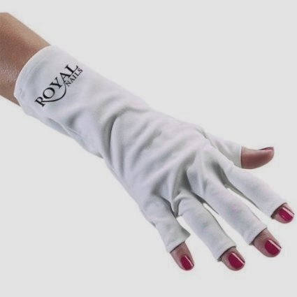 Image: Royal Nails Anti UV Gloves For UV Light/lamp Nail Dryer Only Nail Exposed