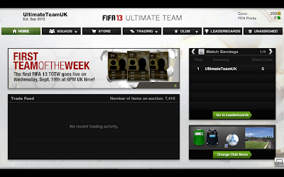 "Home Page ""Trade Feed & Leaderboards"" - FUT 13 Web App - FIFA 13 Ultimate Team"