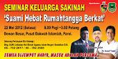'Road Show' Bermula Seminar Keluarga Sakinah 3 PAKAR di Paroi 22.05.12.Nu-Prep 100 US,EUpatent
