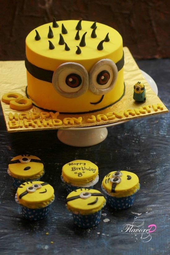 Happy Birthday Minions Cake