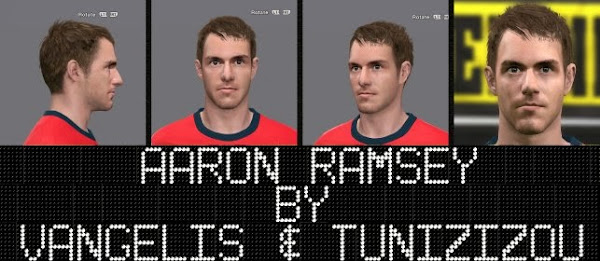Aaron Ramsey Face by Vangelis and Tunizizou