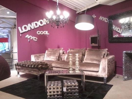 decoração-sala-pink