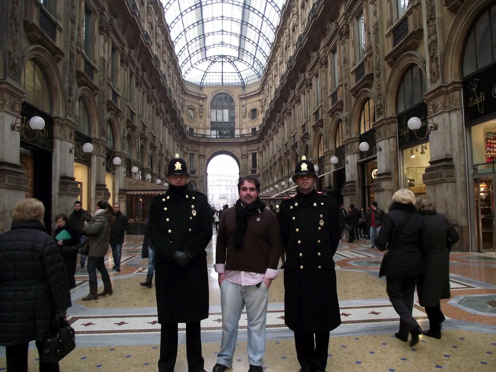 Bien custodiado en la Galeria Vittorio Emanuel II