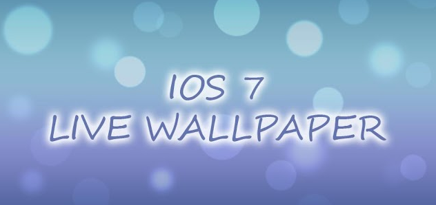 ios 7 the ios 7 live wallpaper was inspired by apple 39 s new ios 7