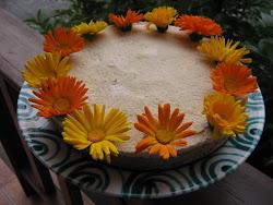 """""""Őszi tündöklés """"...tavasszal,ehető virágokkal."""