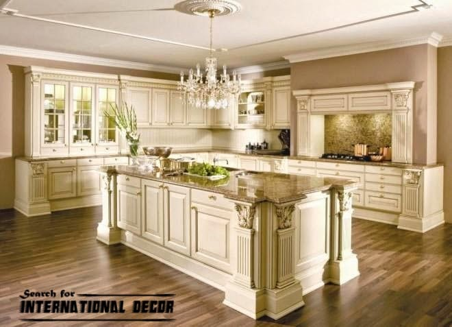 Best designs of luxury kitchens in classic style for Classic style kitchen ideas