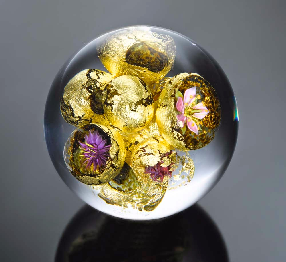 nature glass paperweights by paul stankard photography