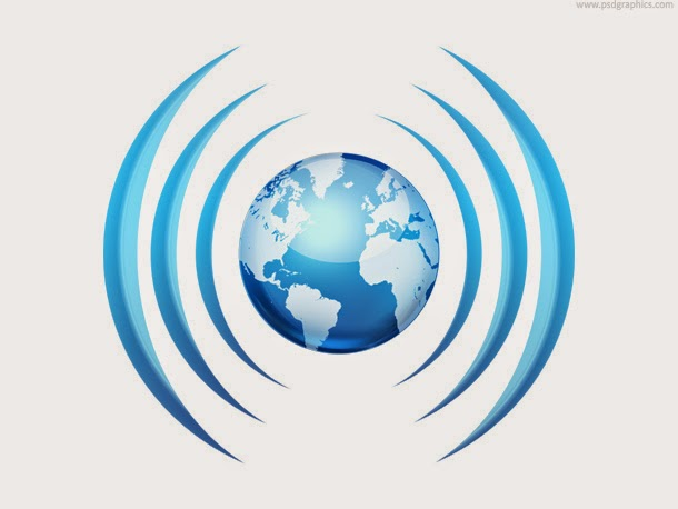 Worldwide Broadcasting Icon PSD