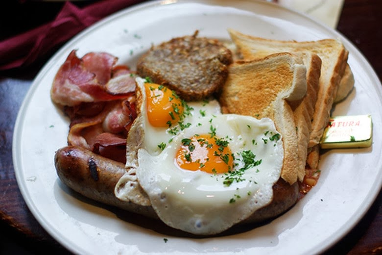 The traditional English and Irish breakfast