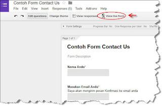 Mngaktifkan tampilan formulir google form