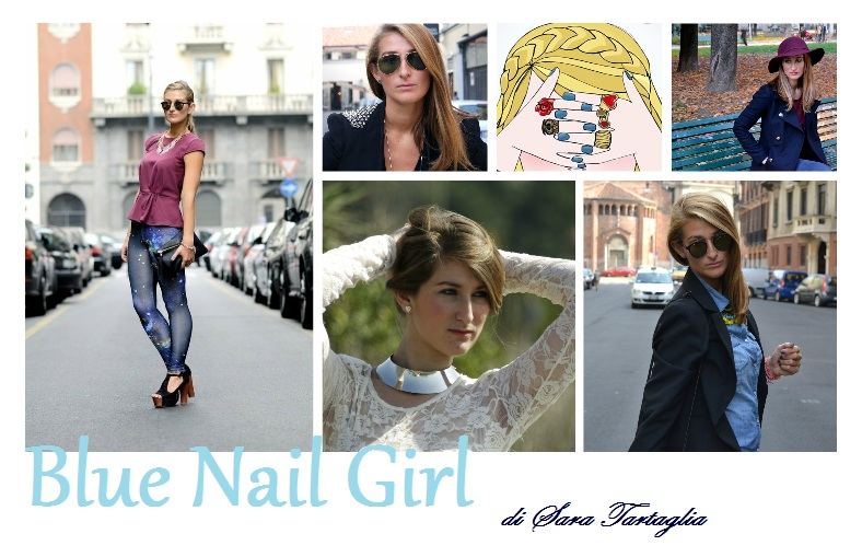 Blue Nail Girl