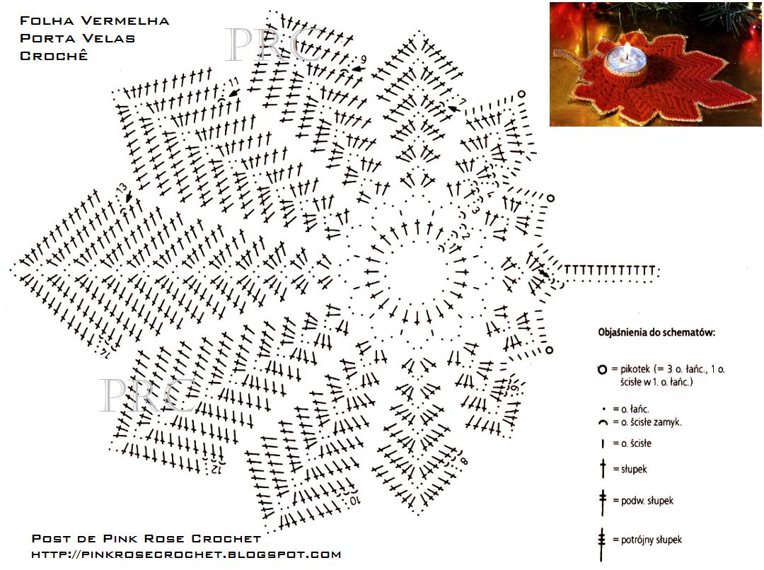 Вязанные листики схема