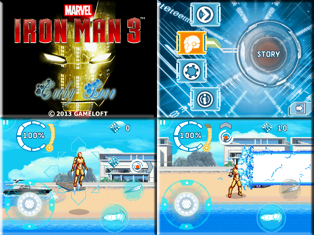 Iron Man 3 240 x 320 Touchscreen Mobile Java Game