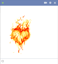 Heart on Fire Emoticon