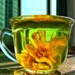 Chá medicinal da flor de lótus