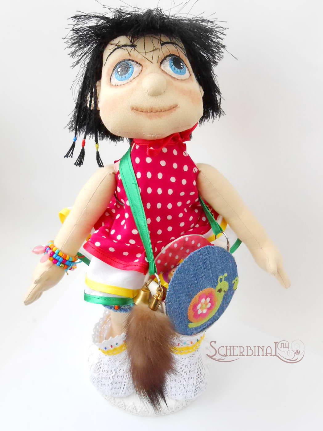 Текстильная игровая кукла-карамелька Людмилы Щербина. Авторские игрушки ручной работы