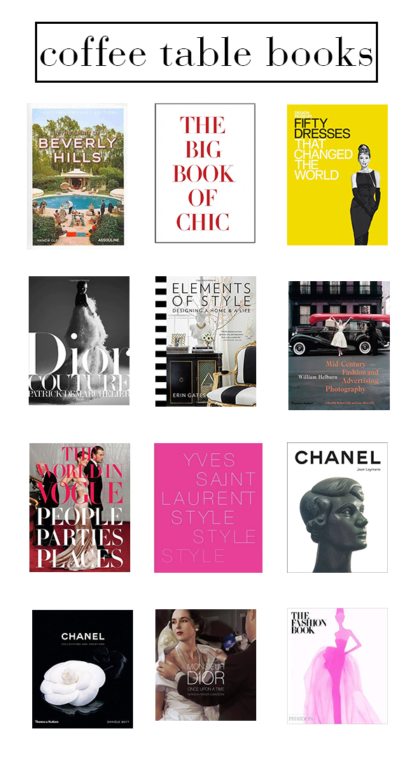 of life and style: coffee table books list