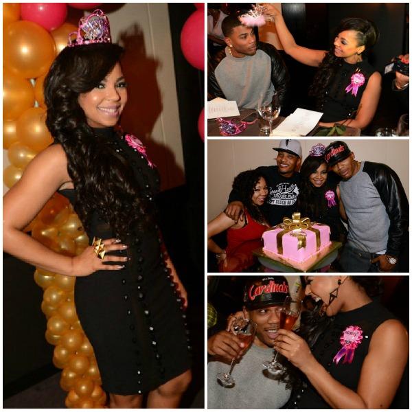 Nelly Photos Photos - Ashantis Surprise Birthday Dinner