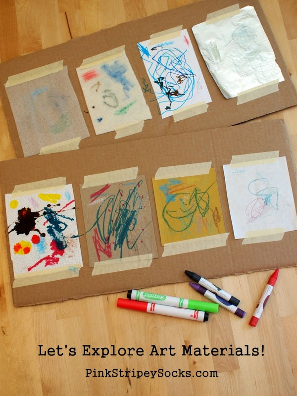how to explore different art materials with kids in a scientific way