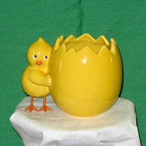Baby Chick Ceramic Planter