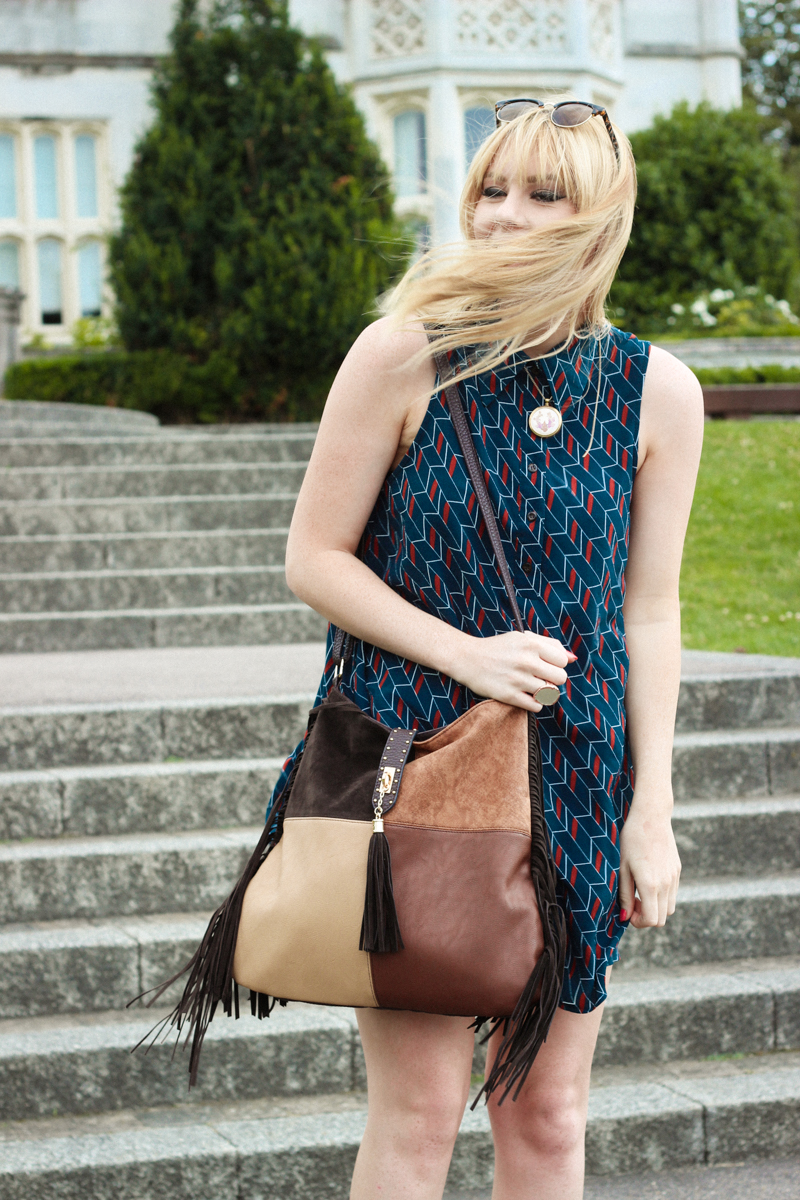New Look Suede Patchwork Festival Bag