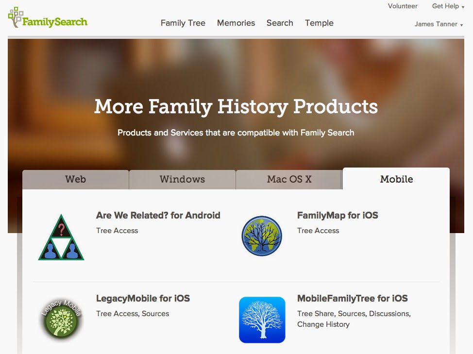 Genealogy's Star: Redesign of FamilySearch Certified Products Pages
