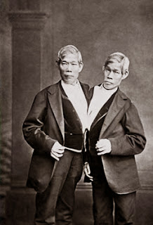 Photograph of Chang and Eng Bunker in their later years.[http://www7.nationalgeographic.com/ngm/0606/feature6/index.html]
