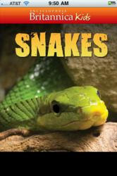 Snakes, a new multimedia app from Encyclopaedia Britannica Kids