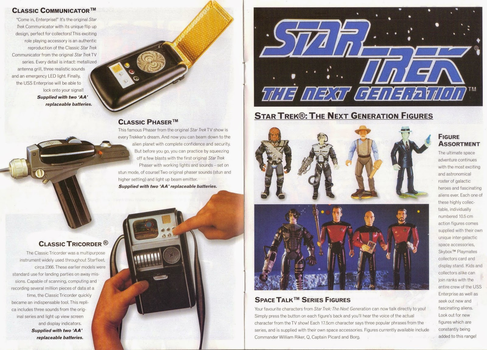 Star Trek Playmates Action Figure Advertisement Catalogue