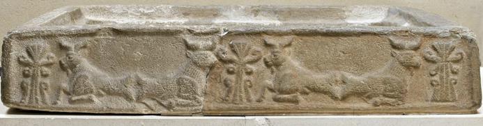 Ancient Near East Scarf Hieroglyph On Warka Vase Cyprus Bronze