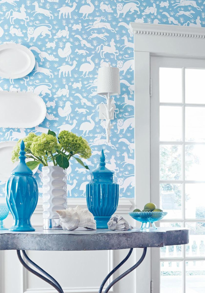 Decoraci n f cil decorar las paredes con papel pintado for Decorar paredes facil