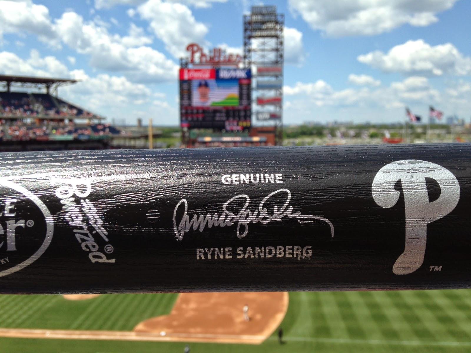 Ryne Sandberg autographed bat