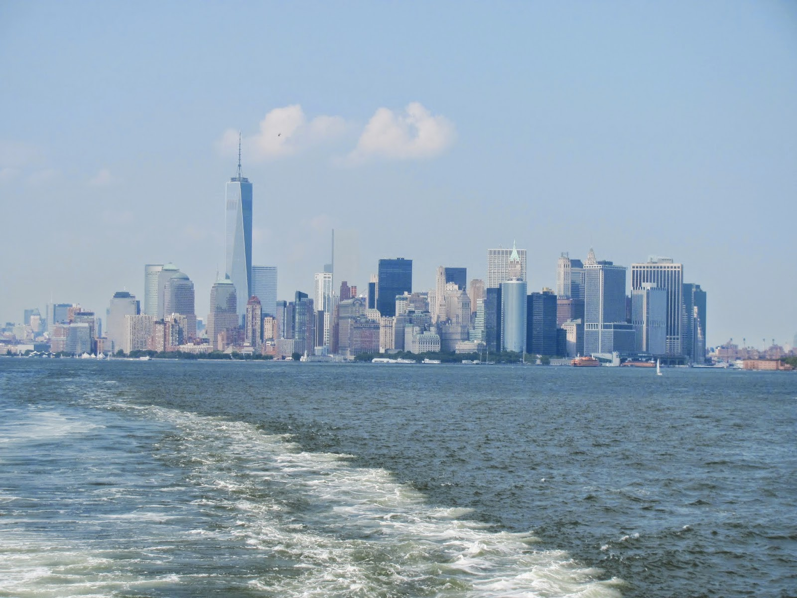 Lower Manhattan from said Free Ferry
