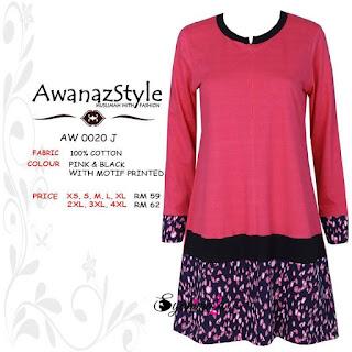 T-Shirt-Muslimah-Awanazstyle-AW0020J