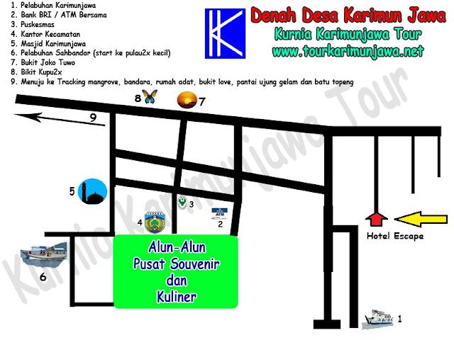 peta lokasi hotel escape karimunjawa