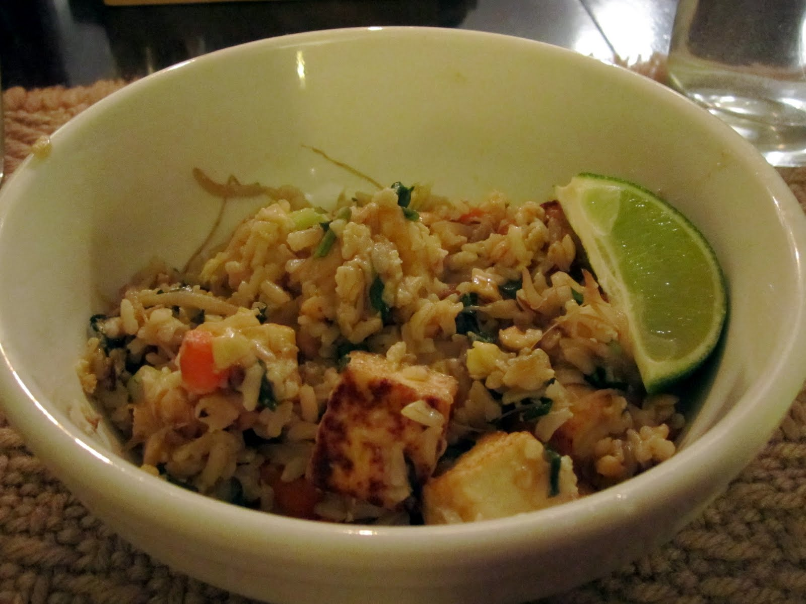 "... Spicy Fried Rice with Bean Sprouts, Chicken, and Peanuts."" p. 322-3"