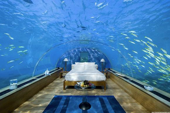 Bilik+tidur+dalam+air+di+Maldives+2 Bilik tidur dalam air di Maldives