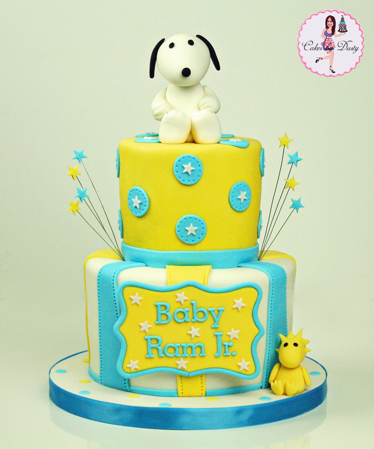 Snoopy U0026 Woodstock Baby Shower Cake