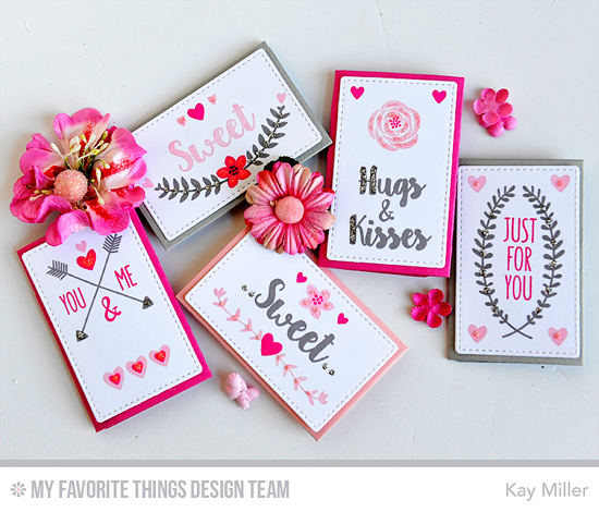Sweet Mini Notes by Kay Miller featuring the So Much Love stamp set and Lisa Johnson Designs Mini Note Die-namics #mftstamps