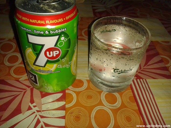 7 UP Lemon and Lime carbonated drink