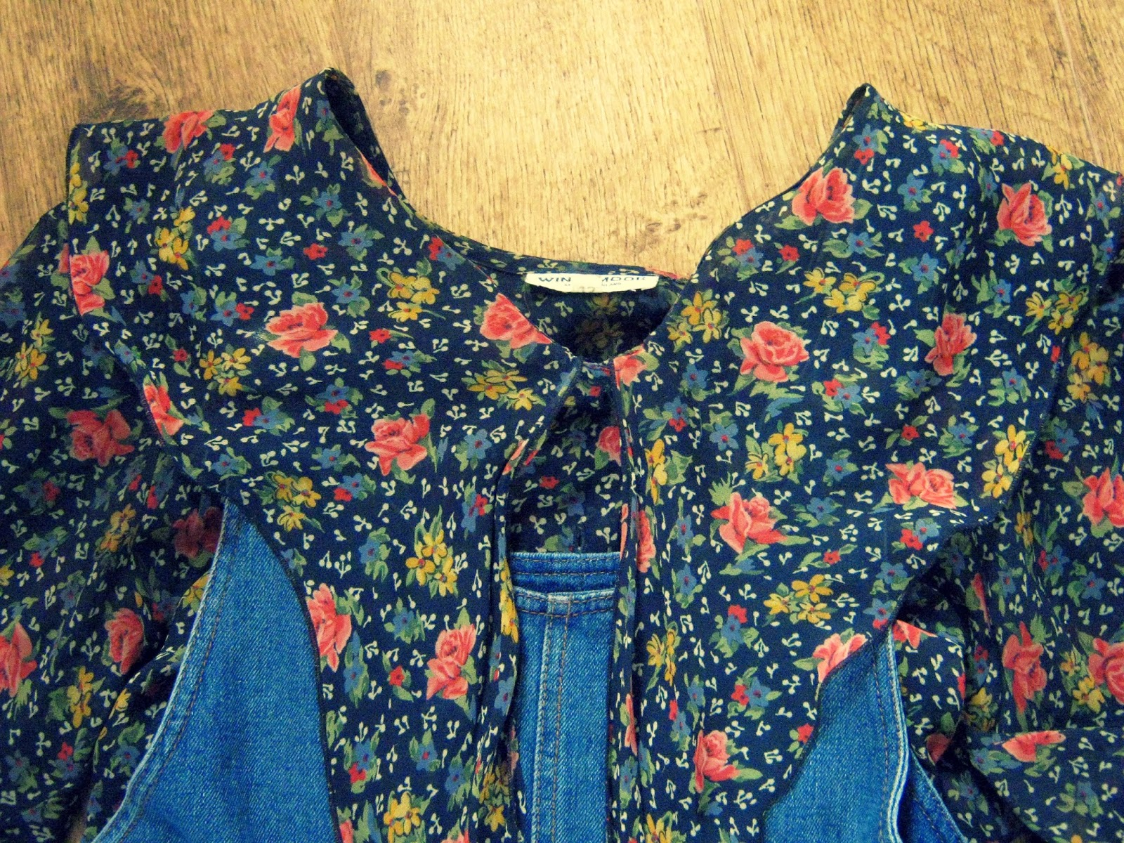 OOTD Floral Blouse and Dungaree Dress
