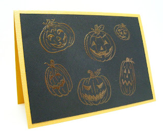 Jack'o'lanterns Handmade Halloween Card