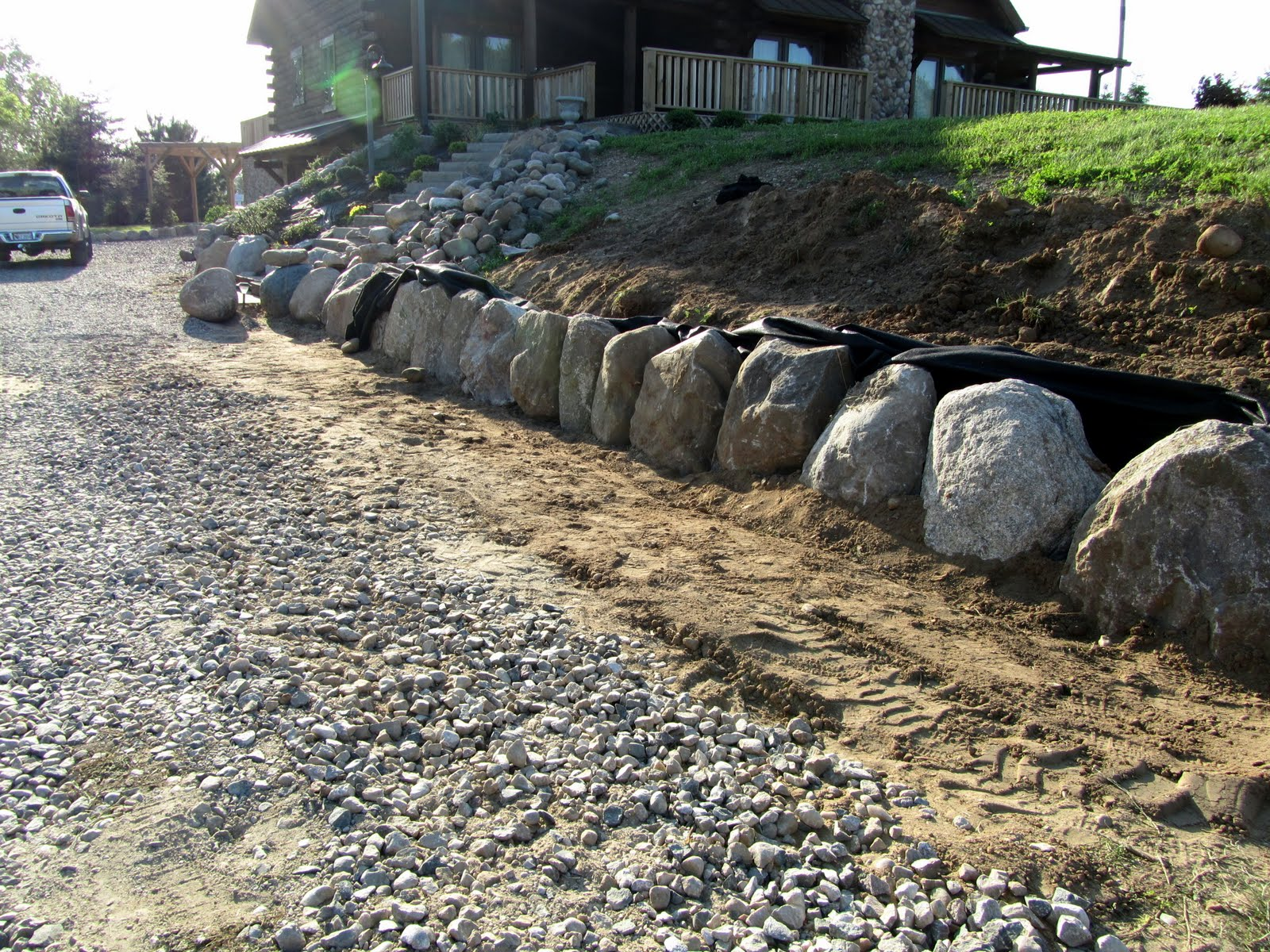 Large Landscape Boulders Dallas : Now home sweet almost finished except those darn landscapers