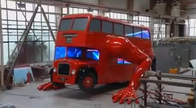 London Double Decker Bus Doing Push Ups For Olympics Seen On www.coolpicturegallery.us