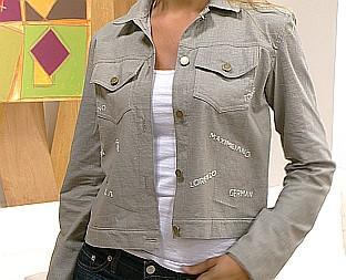 Campera o chaqueta clasica de jean, corderoy o gabardina