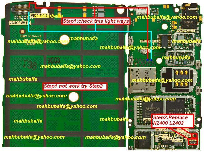nokia x lcd light solution  all about mobiles, wiring diagram