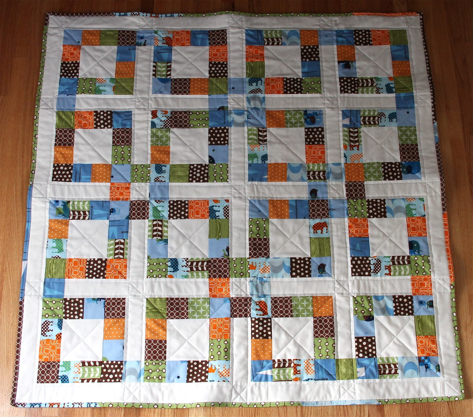 Free Quilt Patterns Square Blocks : City House Studio: Lucky Square Quilt