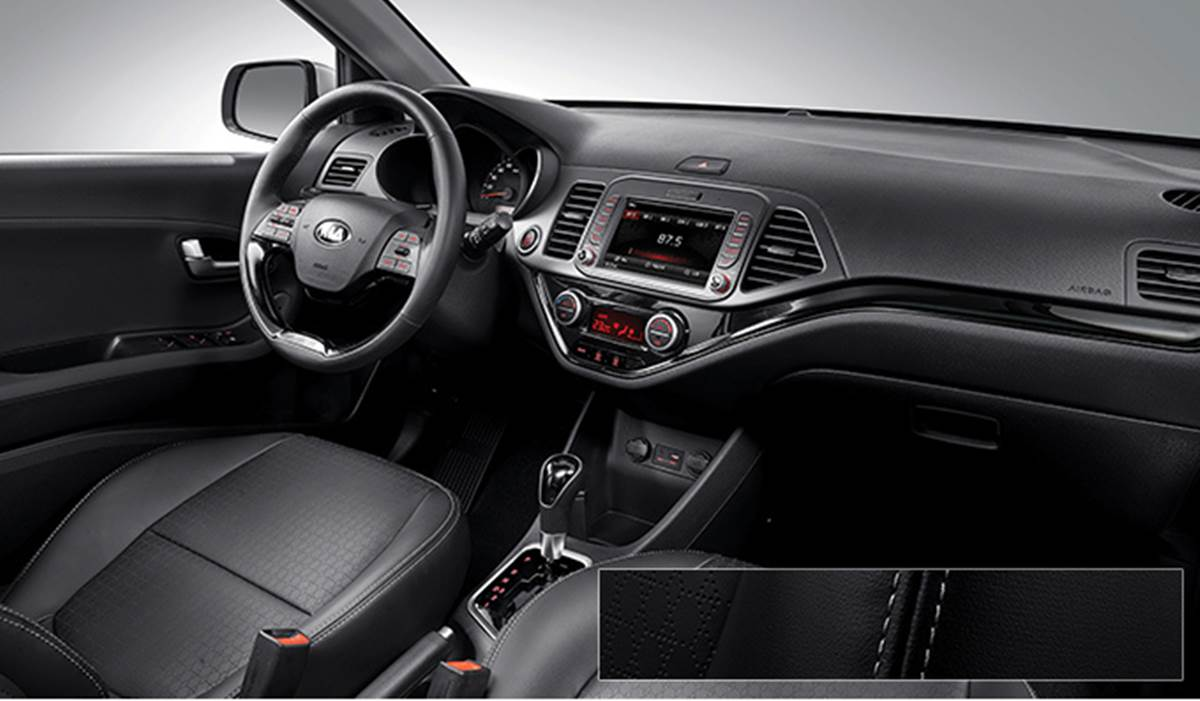 novo kia picanto turbo detalhes internos e especifica es car blog br. Black Bedroom Furniture Sets. Home Design Ideas